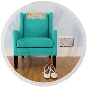 The Blue Chair Round Beach Towel