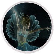 The Blue Fairy Round Beach Towel