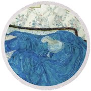 The Blue Gown, 1917  Round Beach Towel