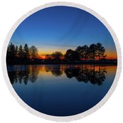 Round Beach Towel featuring the photograph The Blue Hour.. by Nina Stavlund