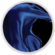 The Blue Kiss Round Beach Towel by Rabi Khan