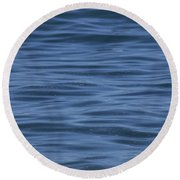Round Beach Towel featuring the photograph The Blue Pacific by RKAB Works