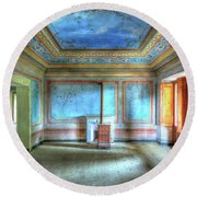 The Blue Room Of The Villa With The Colored Rooms Round Beach Towel
