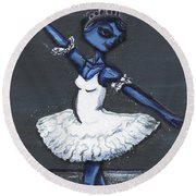 The Blue Swan Round Beach Towel