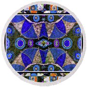 The Blue Vibrations Round Beach Towel