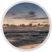 The Blues - Sunrise Seascape  Round Beach Towel
