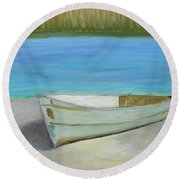 The Boat Round Beach Towel