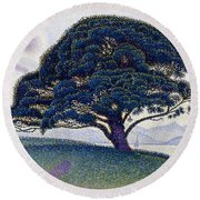 The Bonaventure Pine  Round Beach Towel
