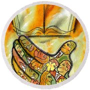 The Book And The Reader Round Beach Towel