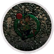The Boston Celtics 1c Round Beach Towel by Brian Reaves
