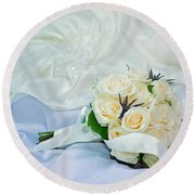 Round Beach Towel featuring the photograph The Bouquet by Keith Armstrong