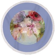 The Bouquet Round Beach Towel