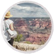 The Breathtaking View Round Beach Towel