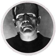 The Bride Of Frankenstein Round Beach Towel