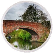 Round Beach Towel featuring the photograph The Bridge by Isabella F Abbie Shores FRSA