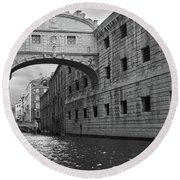Round Beach Towel featuring the photograph The Bridge Of Sighs, Venice, Italy by Richard Goodrich