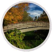 The Bridge To The Garden Round Beach Towel