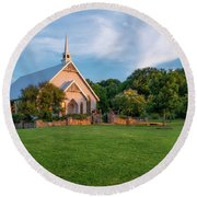 The Brooks At Weatherford Wedding Chapel Round Beach Towel