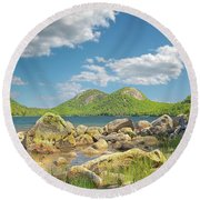 The Bubbles Round Beach Towel