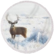 The Buck Stops Here Round Beach Towel