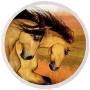 The Buckskins Round Beach Towel