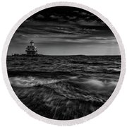 The Bug Light, Greenport Ny Round Beach Towel