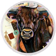 The Bull Round Beach Towel