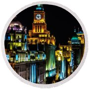The Bund Round Beach Towel