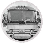 The Bus To Laredo Round Beach Towel