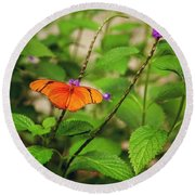 The Butterfly Effect In Relation To Round Beach Towel