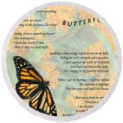The Butterfly Round Beach Towel