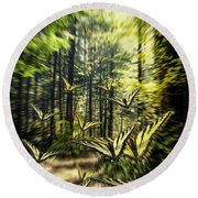 Round Beach Towel featuring the photograph The Butterfly Migration Vortex by Diane Schuster