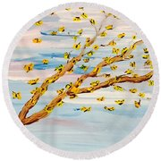 The Butterfly Tree Round Beach Towel