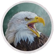 The Call Of The Eagle Round Beach Towel