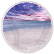 The Calm Before The Storm Round Beach Towel