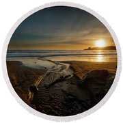 The Calming Bright Light Round Beach Towel