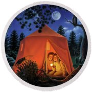 The Campout Round Beach Towel