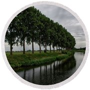 The Canal Round Beach Towel