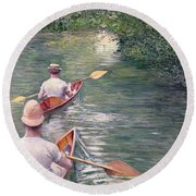 The Canoes Round Beach Towel