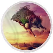 The Carnival Is Over Round Beach Towel