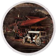 The Carriage Round Beach Towel by Bob Pardue