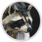 The Cat Food Bandit Round Beach Towel