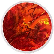 Round Beach Towel featuring the painting Chimera by Robbie Masso