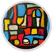 The Catedral Round Beach Towel