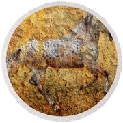 The Cave Painting Round Beach Towel