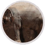 Round Beach Towel featuring the digital art The Cave by Robert Orinski