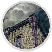 Round Beach Towel featuring the photograph The Cell Block Restaurant by Greg Reed