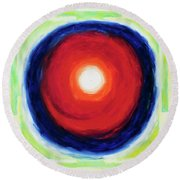 The Center Round Beach Towel
