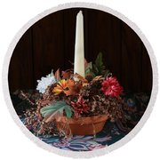 Round Beach Towel featuring the photograph The Centerpiece by Rick Morgan
