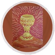 The Chalice Or Holy Grail Round Beach Towel